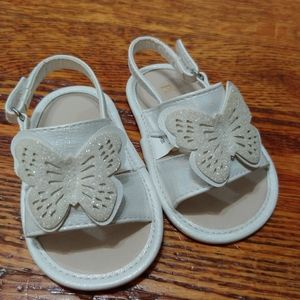 Children's Place babygirl 6-12mo.Butterfly sandals